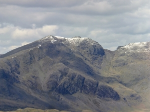 Scafell in dusting of snow