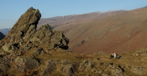 Joe on the summit of Helm Crag